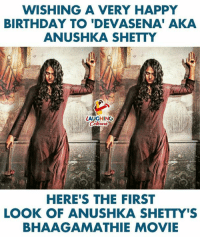 Birthday Wishes To Pretty Actress #AnushkaShetty #Bhaagamathie: WISHING A VERY HAPPY  BIRTHDAY TO 'DEVASENA' AKA  ANUSHKA SHETTY  LAUGHING  HERE'S THE FIRST  LOOK OF ANUSHKA SHETTY'S  BHAAGAMATHIE MOVIE Birthday Wishes To Pretty Actress #AnushkaShetty #Bhaagamathie