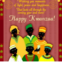 Memes, 🤖, and Kwanzaa: Wishing you moments  fr of light, peace and happiness  That lasts all through the  coming year and more!  Happy Kwanzaa!