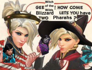 Tumblr, Blizzard, and Blog: Witch  GEE ofthe! HoW cOME  Blizzard LETS YOU have  Wilds .  TWO Pharahs? mothbread:this is literally the only thing i've been thinking about since yesterday