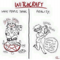 witchcraft: WITCHCRAFT  WHAT PEOALE THINK.  REALITY  BANG  GHOSTS  GEST  GET  OUT OF  Use