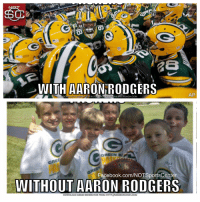 The Packers aren't quite the same without Aaron Rodgers: https://t.co/63ihRu9Gah: WITH AARON RODGERS  DOWNLOAD MENIE CENERATOREROM HTTP/MEMECRUNCH.COM  AP  GRE  Facebook.com/NOTSportsCenter  WITHOUT AARON RODGERS  DOWNLOAD MEME GENERATOR FROM HTTP:MEMECRUNCH.COM The Packers aren't quite the same without Aaron Rodgers: https://t.co/63ihRu9Gah