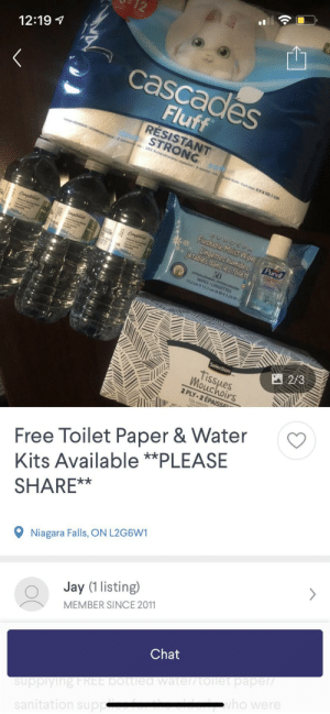 With all the craziness happening, this dude is offering free kit with water TP and sanitizer for the elderly or immunocompromised! And he delivers!: With all the craziness happening, this dude is offering free kit with water TP and sanitizer for the elderly or immunocompromised! And he delivers!
