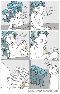 Memes, Comics, and 🤖: WITH  FAMIL  MUST  No  TM  FIGHT  BACK  Scribble  To Do Lis  FIX  THE  BILL  WITH FAMILY  PAY YOUR BILLS  THE SuyK  CLEAN THE  Hol  www.lunarbaboon.com New comic about being overwhelmed! www.lunarbaboon.com