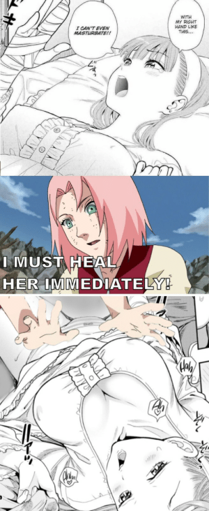 I need healing!: WITH  MY RIGHT  HAND LIKE  THIS...  I CAN'T EVEN  MASTURBATE!!  I MUST HEAL  HER IMMEDIATELY! I need healing!