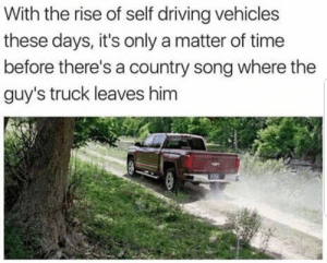 It really do be like that sometimes by 3holder MORE MEMES: With the rise of self driving vehicles  these days, it's only a matter of time  before there's a country song where the  guy's truck leaves him It really do be like that sometimes by 3holder MORE MEMES