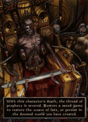 With This Character's Death the Thread of Prophecy Is