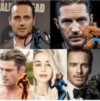 Batman, Memes, and News: With this recent news about Dr. Doom I thought I'd share one of my old fancastings. This was way back. I wanted this fantastic 4 film to have a specific tone. It would also be a period piece. Just think of the powerful scenes Andrew Lincoln and Michael fassbender could have. I wanted Tom hardy as Ben because he's sweet and lovable yet a hardcore beast at the same time. To me that's Ben. Yes I know Emilia is kinda young for Andrew but margot was really young compared to Jared Leto and Leo. . . . Feel free to comment and share just give credit!👏👏👏👏 . . . . . . . . . . . . . . . justiceleague fantastic4 batman superman flash cyborg aquaman benaffleck ezramiller jasonmomoa galgadot rayfisher bvs michaelfassbender tomhardy zacefron wonderwoman reedrichards bengrimm emiliaclarke dc dceu dccomics dcuniverse dcrebirth andrewLincoln victorvondoom suestorm drdoom