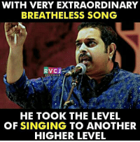Shankar Mahadevan rvcjinsta: WITH VERY EXTRAORDINARY  BREATHE LESS SONG  RVCJ  WWW. RVCJ COM  HE TOOK THE LEVEL  OF SINGING TO ANOTHER  HIGHER LEVEL Shankar Mahadevan rvcjinsta