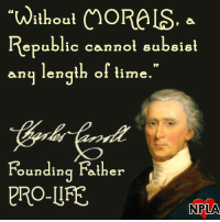 "Memes, Pro, and 🤖: ""without ChORALS, a  Republic cannot subsist  any length of time.  Founding Father  PRO-LIFE  NPLAA Wise words from one of our Founding Fathers!"