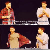Memes, Tumblr, and Supernatural: withyaradit i being tortured by the hegehmpn  torture you  And with you it's like my friend and protector supernatural spn spnfamily castiel mishacollins cockles destiel deanwinchester samwinchester marksheppard crowley jensenackles jaredpadalecki winchester sabriel twistandshout osricchau superwholock bobbysinger teamfreewill fandom markpellegrino impala casifer alwayskeepfighting akf tumblr robbenedict chuckshurley spncast