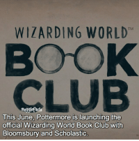 """qotd : comment """"😏"""" if you knew this and """"😱"""" if you didn't.: WIZARDING WORLD  mugglefacts  This June, Pottermore is launching the  official Wizarding World Book Club with  Bloomsbury and Scholastic. qotd : comment """"😏"""" if you knew this and """"😱"""" if you didn't."""