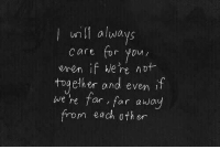 Core, You, and For: wl always  core for you  even if We're not  together and even 1  we he far , far away  m each oth er