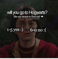 Like my recent post and see the last digit to find out if you will go to Hogwarts! 😇 Comment down below! 🤣👇 harrypotter thechosenone theboywholived hermionegranger ronweasley gryffindor bestfriends thegoldentrio dracomalfoy theboywhohadnochoice slytherin hogwarts ministryofmagic jkrowling harrypotterfilm harrypottercasts potterheads potterheadforlife harrypotterfact harrypotterfacts hpfact hpfacts thehpfacts danielradcliffe emmawatson rupertgrint tomfelton: wll you go to Hogwarts?  like my recent to find out!  sfsnape //give credit  1-5 yeS:  )  6-0 no :( Like my recent post and see the last digit to find out if you will go to Hogwarts! 😇 Comment down below! 🤣👇 harrypotter thechosenone theboywholived hermionegranger ronweasley gryffindor bestfriends thegoldentrio dracomalfoy theboywhohadnochoice slytherin hogwarts ministryofmagic jkrowling harrypotterfilm harrypottercasts potterheads potterheadforlife harrypotterfact harrypotterfacts hpfact hpfacts thehpfacts danielradcliffe emmawatson rupertgrint tomfelton
