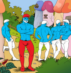 Thanks I hate male model smurfs: WLs  Ava  ww Thanks I hate male model smurfs