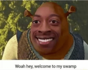 you never get out of here!: Woah hey, welcome to my swamp you never get out of here!