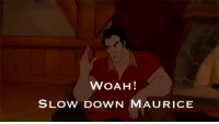 Target, Tumblr, and Blog: WOAH!  SLOW DOWN MAURICE wishingondisney: STILL THE FUNNIEST THING EVER