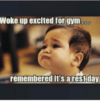 Aw 😢 . @officialdoyoueven 💯: Woke up excited for gym  DIDO  remembered it's arest day Aw 😢 . @officialdoyoueven 💯