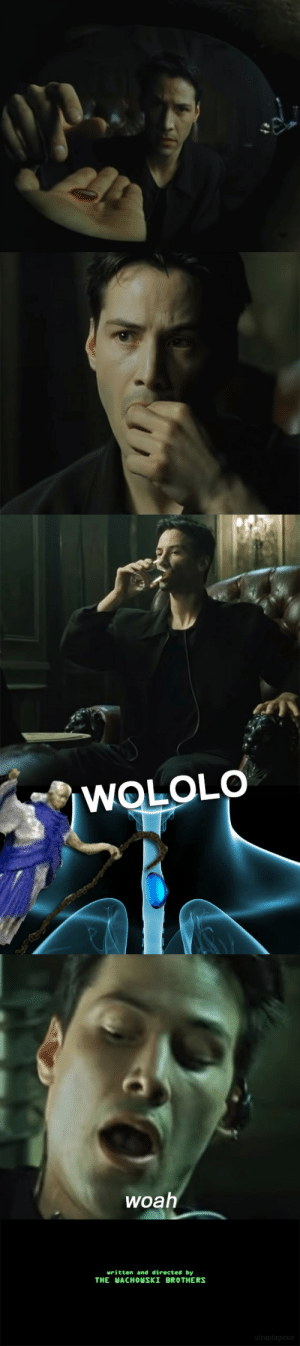 Reddit, The Matrix, and Matrix: WOLOLO  woah  uritten and directed by  THE WACHOWSKI BROTHERS  u/zaptagious The Matrix alternate ending