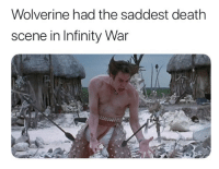 "Memes, Wolverine, and Death: Wolverine had the saddest death  scene in Infinity War <p>RIP Wolverine, you will be missed via /r/memes <a href=""https://ift.tt/2KWDip7"">https://ift.tt/2KWDip7</a></p>"