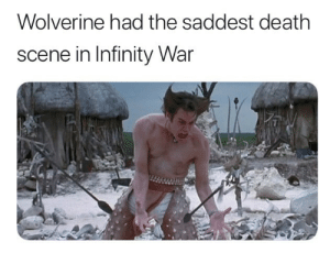 Click, Dank, and Memes: Wolverine had the saddest death  scene in Infinity War RIP Wolverine, you will be missed by bobargwr CLICK HERE 4 MORE MEMES.