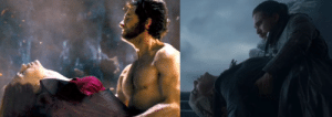 Wolverine killing Jean was way more emotionnal and sad than Jon killing Daenerys. One had to do it to save manking and is raging over the loss of the woman he loves while the other still had a choice not to do it yet he killed her anyway and then sobs a little after.: Wolverine killing Jean was way more emotionnal and sad than Jon killing Daenerys. One had to do it to save manking and is raging over the loss of the woman he loves while the other still had a choice not to do it yet he killed her anyway and then sobs a little after.