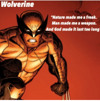 """Wolverine wins! Congratulations to team 2 for winning this tournament!: Wolverine  """"Nature made me a freak.  Man made me a weapon.  And God made it last too long Wolverine wins! Congratulations to team 2 for winning this tournament!"""