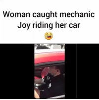 Fast Food, Food, and Memes: Woman caught mechanic  Joy riding her car A woman takes her husband's car to the dealership for maintenance, but soon discovers an employee has taken the car on a joyride to get some fast food! Via @foxla