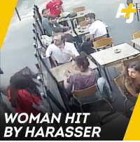 Memes, France, and 🤖: WOMAN HIT  BY HARASSER This footage of a man striking a woman after she told him to stop harassing her has shocked France. #balancetonporc