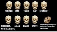 """Asian, Family, and Family Guy: WOMAN MAN TRANS GAY STRAIGHT  RELIGIOUS/ ASIAN BLACK WHITE  NON-RELIGIOUS  People who genuinely thin  Family Guy is better than  The Simpsons <p>Is this format worth investing in?? via /r/MemeEconomy <a href=""""http://ift.tt/2vSmrMQ"""">http://ift.tt/2vSmrMQ</a></p>"""