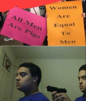 You have become the very thing you swore to destroy by DireDodo MORE MEMES: Women  Are  All Men  Εqual  Are Pigs  To  Men You have become the very thing you swore to destroy by DireDodo MORE MEMES