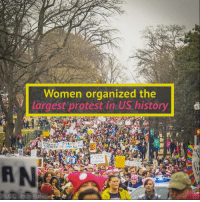 """When women wake, mountains move."" #resist: Women organized the  largest protest in US history  d  STRENGTH  MUSIC: Jingle Punks ""When women wake, mountains move."" #resist"