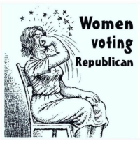 It couldn't be clearer ...: Women  voting  Republican It couldn't be clearer ...