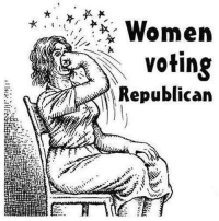 Memes, Women, and 🤖: Women  voting  Republican Pretty much.  Shared by Occupy Democrats, LIKE our page for more!