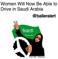 """Women Will Now Be Able to Drive in Saudi Arabia-blogged by @thereal__bee ⠀⠀⠀⠀⠀⠀⠀⠀⠀ ⠀⠀ Saudi Arabia's government announced Tuesday that women will now have the right to drive cars as soon as next year. ⠀⠀⠀⠀⠀⠀⠀⠀⠀ ⠀⠀ Since the 1990s, women have been demanding the right to drive. The latest decision to grant them permission came in the form of a decree from Saudi Arabia's King Salman bin Abdulaziz Al Saud. ⠀⠀⠀⠀⠀⠀⠀⠀⠀ ⠀⠀ """"We refer to the negative consequences of not allowing women to drive vehicles and the positive aspects of allowing it to do so,"""" the government wrote in a royal decree. ⠀⠀⠀⠀⠀⠀⠀⠀⠀ ⠀⠀ The royal directive, while very progressive, comes at a time where tensions are high in Saudi Arabia's political system. The tensions are mostly attributed to the new crowning of prince, Mohammed Bin Salman. Bin Salman is very much a supporter of social reforms, but his rise to power has caused some cracking down on government authorities, including the arrest of prominent religious figures.: Women Will Now Be Able to  Drive in Saudi Arabia  @balleralert  じ2  LATUFF 2013 OPERAMUNDI Women Will Now Be Able to Drive in Saudi Arabia-blogged by @thereal__bee ⠀⠀⠀⠀⠀⠀⠀⠀⠀ ⠀⠀ Saudi Arabia's government announced Tuesday that women will now have the right to drive cars as soon as next year. ⠀⠀⠀⠀⠀⠀⠀⠀⠀ ⠀⠀ Since the 1990s, women have been demanding the right to drive. The latest decision to grant them permission came in the form of a decree from Saudi Arabia's King Salman bin Abdulaziz Al Saud. ⠀⠀⠀⠀⠀⠀⠀⠀⠀ ⠀⠀ """"We refer to the negative consequences of not allowing women to drive vehicles and the positive aspects of allowing it to do so,"""" the government wrote in a royal decree. ⠀⠀⠀⠀⠀⠀⠀⠀⠀ ⠀⠀ The royal directive, while very progressive, comes at a time where tensions are high in Saudi Arabia's political system. The tensions are mostly attributed to the new crowning of prince, Mohammed Bin Salman. Bin Salman is very much a supporter of social reforms, but his rise to power has caused some cracking"""