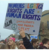 Memes, Wannabe, and Abortion: WOMENS LG  ARE  HUMAN RIGHTS  IMMIGRANTS  AMERICA  GREAT  ABORTION LMAO miss me with that wannabe oppressed bullshit