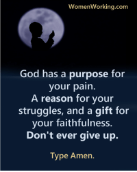 If you've ever wanted to make your ex crave to have you back, I'll show you exactly what to do and what to say to get your ex lover back in your arms… http://bit.ly/2ndChanceone: WomenWorking.com  God has a purpose for  your pain.  A reason for your  struggles, and a gift for  your faithfulness.  Don't ever give up.  Type Amen If you've ever wanted to make your ex crave to have you back, I'll show you exactly what to do and what to say to get your ex lover back in your arms… http://bit.ly/2ndChanceone
