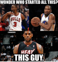 These stars ain't loyal.   #Bulls Nation #Warriors Nation #Heat Nation #Cavs Nation: WONDER WHO STARTED ALL THIS?  ROLLS  35  @NBAMEMES  HEAT  THIS GUY These stars ain't loyal.   #Bulls Nation #Warriors Nation #Heat Nation #Cavs Nation