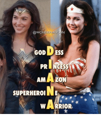 """Amazon, God, and Memes: @WONDERVAUGHN  DESS  GOD  PRINCESS  AMAZON  NE  SUPERHEROI  WARRIOR WONDER WOMEN """"Nothing you wear is more important than your smile"""" @gal_gadot and @reallyndacarter *** EDITOR's NOTE: To provide some clarity to those who feel """"that's not how acronyms work"""", that's because it's an acrostic poem. *** mywonderwoman girlpower women femaleempowerment MulherMaravilha MujerMaravilla galgadot unitetheleague princessdiana dianaprince amazons amazonwarrior manofsteel thedarkknight lyndacarter warrior superheroine princess goddess"""