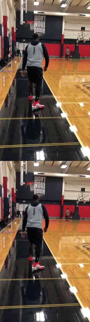 Zion Williamson working on his shot in practice.  Lonzo Ball... https://t.co/barrPeUOKR: WONT  BOU  DOWN  Jrs Perfornle   Sors Performle Zion Williamson working on his shot in practice.  Lonzo Ball... https://t.co/barrPeUOKR