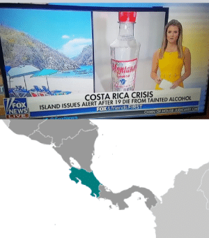 Facepalm, Friends, and News: Wontany  Griere  T  COSTA RICA CRISIS  ISLAND ISSUES ALERT AFTER 19 DIE FROM TAINTED ALCOHOL  FOX& friends FIRST  FOX  NEWS  LIVE  CHMN OF HOUSE JUDICIARY CM  EAxNews Someone please tell Fox & Friends that Costa Rica isn't an island