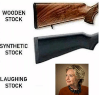 Memes, 🤖, and Laughing: WOODEN  STOCK  SYNTHETIC  STOCK  LAUGHING  STOCK
