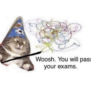 You shall pass: Woosh. You will pass  your exams. You shall pass