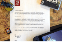 To celebrate the launch of Nintendo Switch, Reggie Fils-Aimé would like to send a special message to all our fans.: Wor  SWITCH  To our incredible fans  The launch of any new Nintendo system is a special day. But in particular, we  can't wait for you to play Nintendo Switch in the comfort of your living room, on  your commute or, really, anywhere you want! That's what makes Nintendo  Switch so unique.  Over the course of the year, you can play a new game in The Legend of Zelda  series, a sequel to Splatoon and a massive new Mario adventure not to mention  the face-to-face fun of 1-2-Switch, the intense racing action of Mario Kart 8  Deluxe, the surprise that comes from new franchises like Snipperclips Cut it out,  together lorARMS. And you can also look forward to xenoblade Chronicles 2, Fire  Emblem for Nintendo Switch and all the great content coming from our third-  party partners.  I hope you fully enjoy the journey that you're about to begin. Here's to taking  console gaming in new directions and to new places never possible before.  Thanks for being the best fans. Have fun today!  Reggie  WILD To celebrate the launch of Nintendo Switch, Reggie Fils-Aimé would like to send a special message to all our fans.