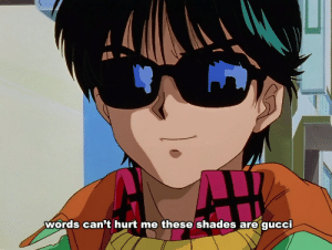 Words, Shades, and  Hurt: words can't hurt me these shades are qucci