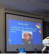 "True, Tumblr, and Work: WORK CITED  l already knew a lot about this so I didn't  cite anything. Heres a picture of Danny  Devito <p><a href=""http://memehumor.net/post/176414269150/a-true-genius"" class=""tumblr_blog"">memehumor</a>:</p>  <blockquote><p>A true genius</p></blockquote>"