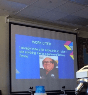 Dank, Memes, and Target: WORK CITED  l already knew a lot about this so I didn't  cite anything. Heres a picture of Danny  Devito A true genius by SkoomaDesu FOLLOW HERE 4 MORE MEMES.
