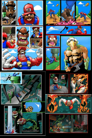 Working on a Mario comic for fun thanks to the covid free time.: Working on a Mario comic for fun thanks to the covid free time.