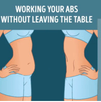 WORKING YOUR ABS  WITHOUT LEAVING THE TABLE RT @FactofWorkout: Working Your Abs https://t.co/SLFJmccF3y