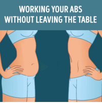 WORKING YOUR ABS  WITHOUT LEAVING THE TABLE RT @FactofWorkout: Working Your Abs https://t.co/ZtOCNu1mLd