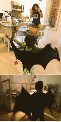"Batman, Halloween, and Memes: Workshopping the Halloween costume, terrorizing his mother and baby brother: Not BATMAN, but a BAT. Why? ""The mosquitos will be so afraid of me."" https://t.co/zT8Hq1aA2M"